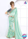 AZ 2000 Sea Green Georgette Fancy Formal Saree