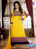 NS10116 Blue and Yellow Georgette Anarkali Suit