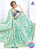 AZ 2000 Sea Green Georgette Fancy Formal Saree - Sarees - NEW SHOP