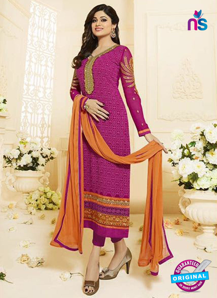 Vivek Fashion 1003 Magenta Georgette Designer Suit