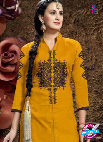 SC 42337 Yellow Indo Western Suit