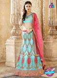 AZ 2004 Sky Blue Net Embroidered Party Wear Lehenga