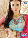 AZ ESZ 2004 Sky Blue Net Embroidered Party Wear Lehenga