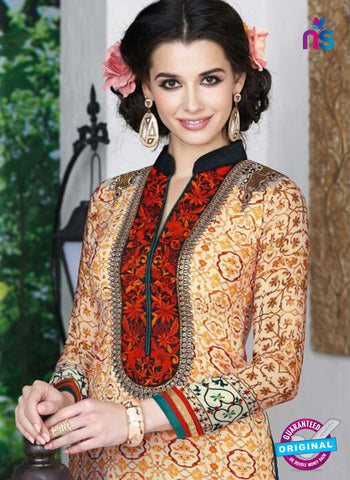 AZ 3491 Beige French Crepe Embroidery Formal Suit