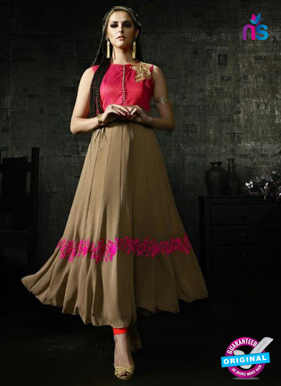 Brown Silk Georgette Gown