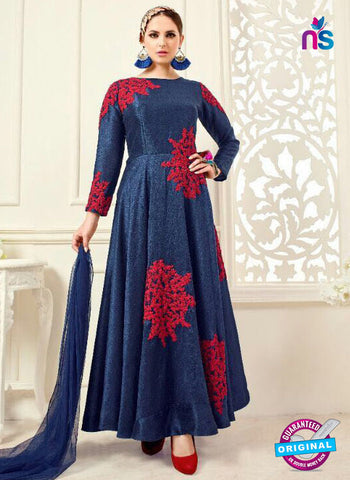 Designer Suit 1004 Blue Anarkali Suit
