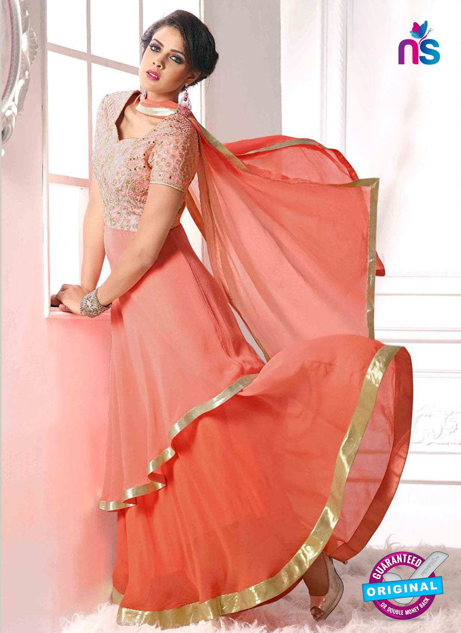 NS10647 Red Pure Georgette Designer Suit
