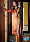 SC 14095 Orange Lawn Cotton Exclusive Fancy Designer Straight Suit