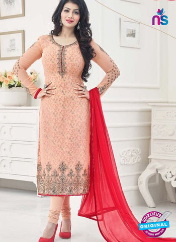 AZ 4064 Peach Georgette Party Wear Suit