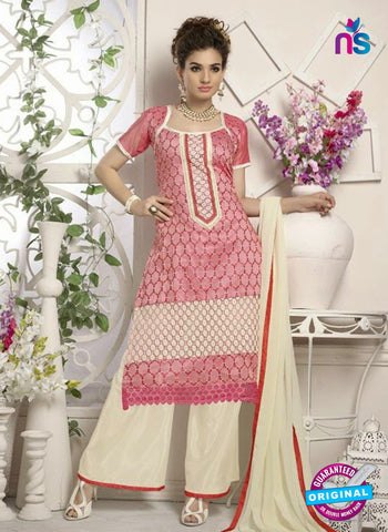 SC 12656 Red and Beige Designer Heavy Chanderi with Embroidered Plazo Suit