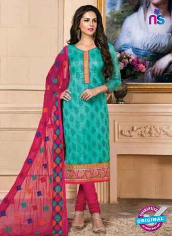 AZ 5262 Sea Green Designer Chanderi Straight Suit