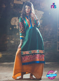 NS10053 Green and Multicolor Cotton Lawn Kurti