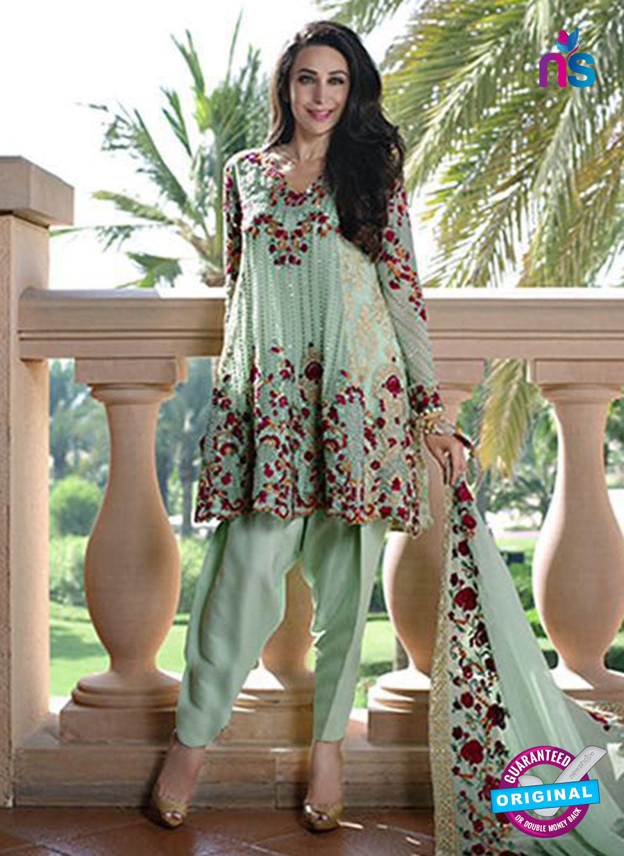 SC 13438 Green Embroidered Georgette  Designer Exclusive Traditional Fancy Suit