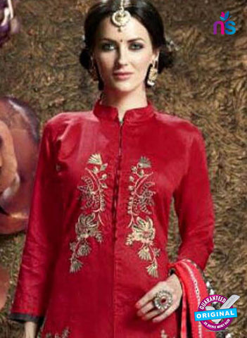 SC 42338 Red Indo Western Suit