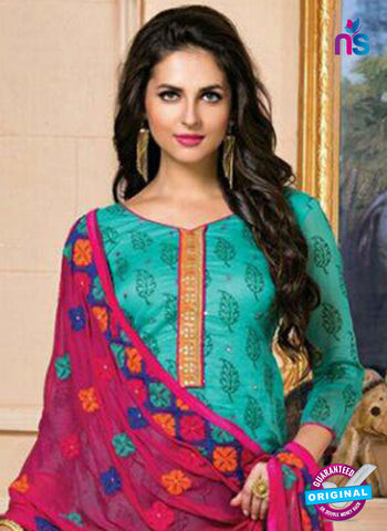 Green Designer Chanderi Straight Suit