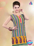 NS11152 A Multicolor and Yellow Designer Cotton Kurti Online