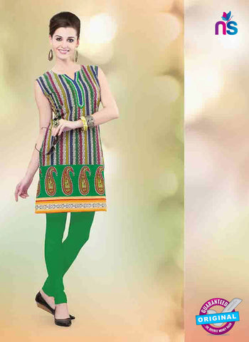 NS11153 B Multicolor and Green Designer Cotton Kurti Online