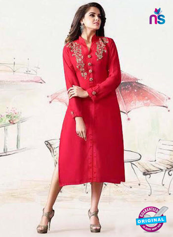 LT 1005 Red Party Wear Kurti