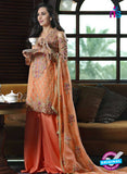 SC 13439 Orange Embroidered Georgette  Designer Exclusive Traditional Fancy Suit