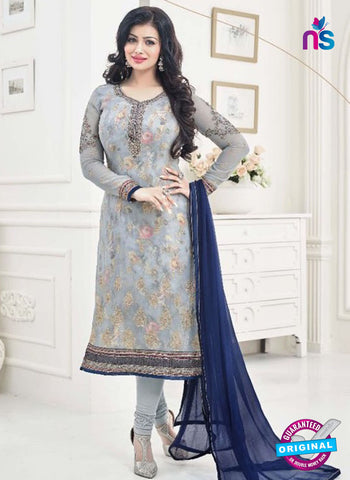 AZ 4065 Grey Georgette Party Wear Suit