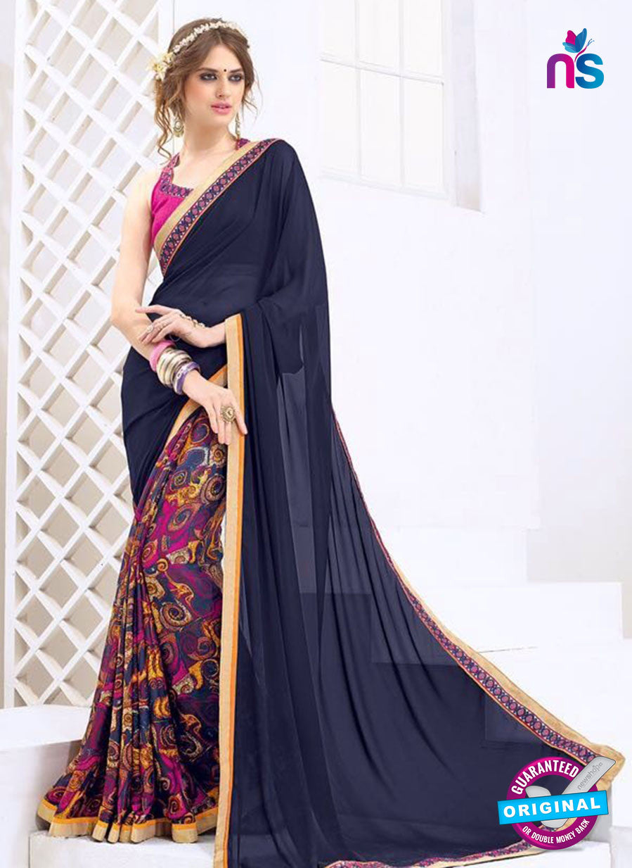 AZ 2002 Blue and Multicolor Georgette Fancy Formal Saree