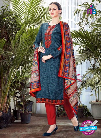 SC 42355 Blue Plazo Suit