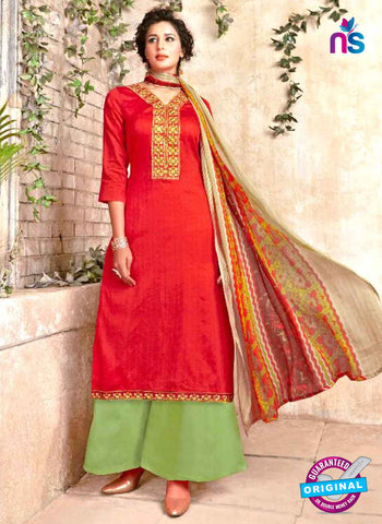 SC 48513 Red Formal Cotton Suit