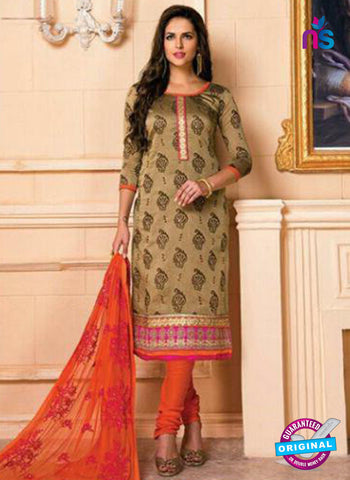 AZ 5263 Brown Designer Chanderi Straight Suit