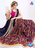 AZ 2002 Blue and Multicolor Georgette Fancy Formal Saree - Sarees - NEW SHOP
