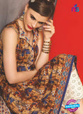 SC 13483 Brown and Multicolor Designer Un-stitched Plazo Suit