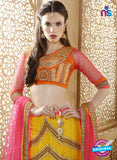 AZ ESZ 2006 Yellow Net Embroidered Party Wear Lehenga