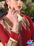 SC 12920 Red and Multicolor Faux Georgette Party Wear Straight Suit Online