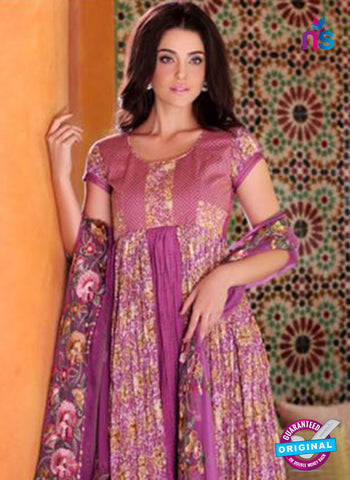 SC 14097 Purple Lawn Cotton Exclusive Fancy Designer Straight Suit
