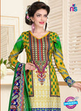 SC 13026 Multicolor and Yellow Printed Cambric Pakistani Suit