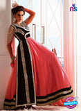 NS10648 Black and Pink Pure Valvet Designer Suit