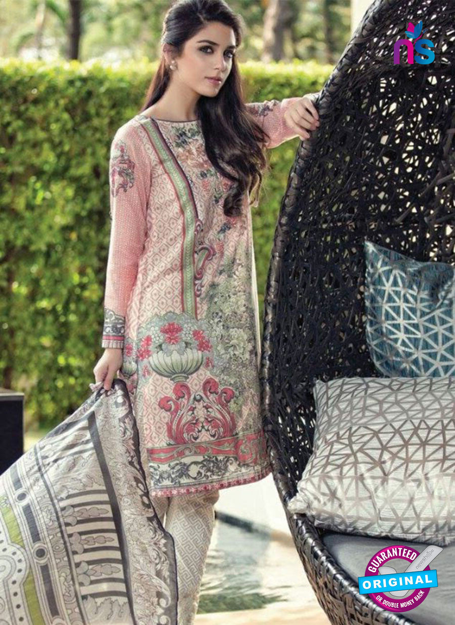 SC 12989 Multicolor and White Lawn Cotton Pakistani Suit