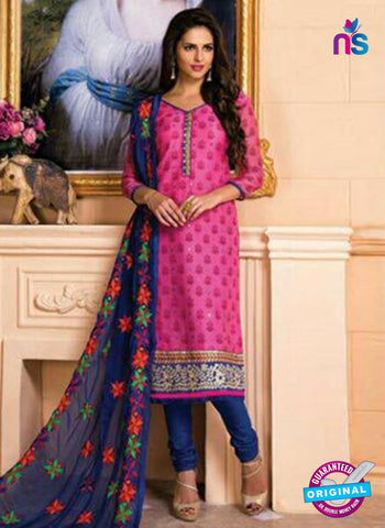 AZ 5264 Pink Designer Chanderi Straight Suit