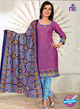 NS12094 Purple and Blue Chudidar Suit