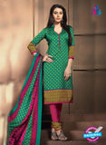 NS11196 Sea Green and DeepPink Daily Wear Heavy Banglori Printed Salwar Suit