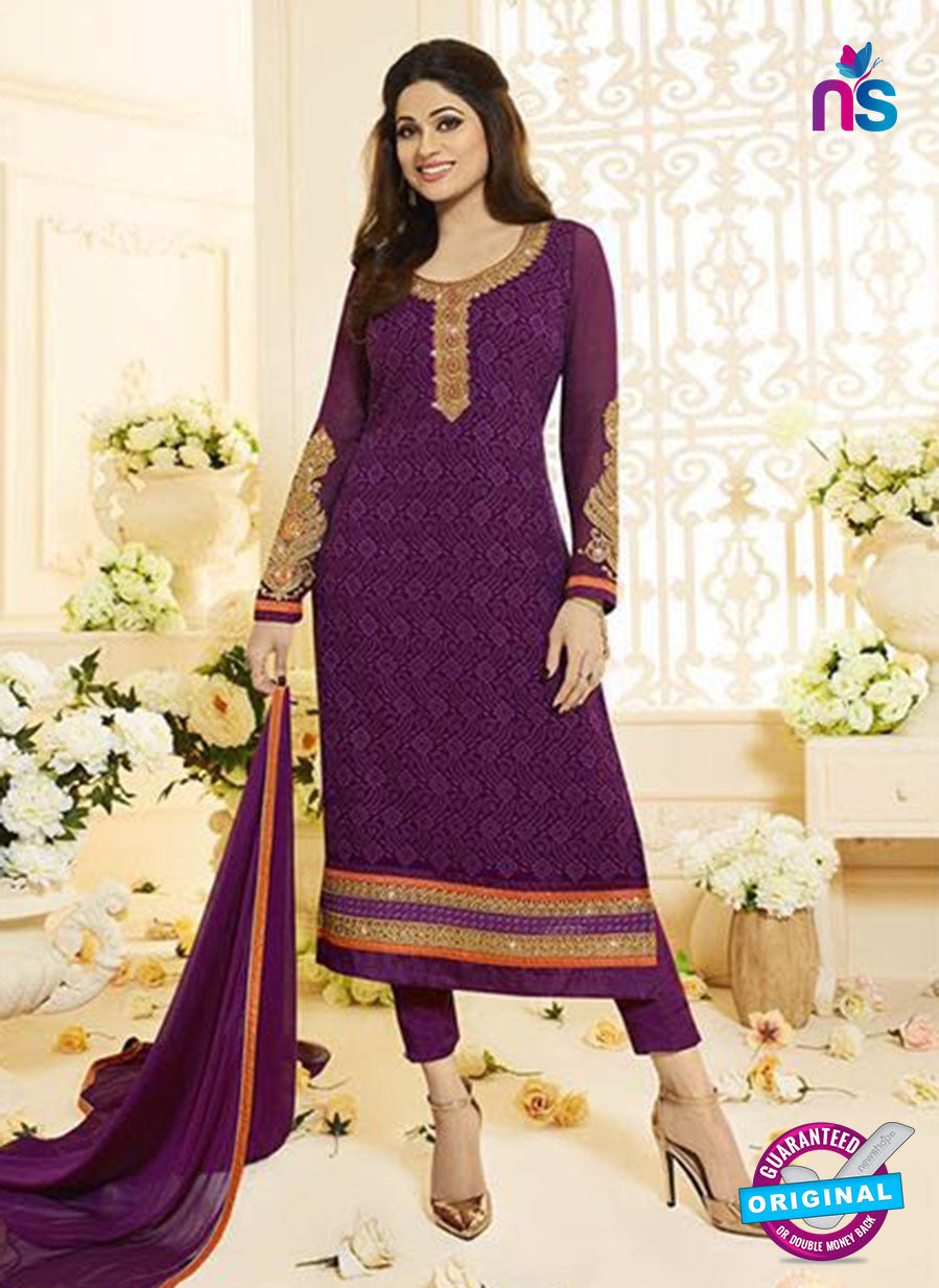 Vivek Fashion 1006 Purple Georgette Designer Suit