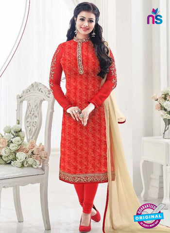 AZ 4066 Red Georgette Party Wear Suit