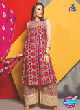 SC 13484 Pink and Multicolor Designer Un-stitched Plazo Suit