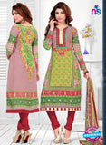 SC 12775 Multicolor and Maroon Embroidered Pure Cambric Cotton Suit