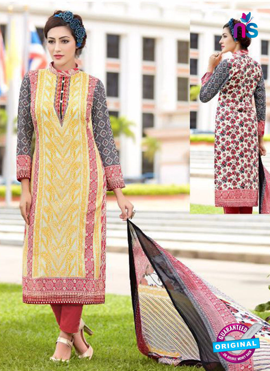 SC 13645 Yellow and Red Printed Glace Satin Cotton Designer Fancy Ethnic Exclusive Salwar Straight Suit