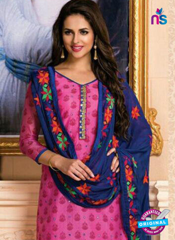 Pink Designer Chanderi Straight Suit
