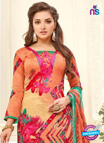 SC 42318 Orange Formal Cotton Suit