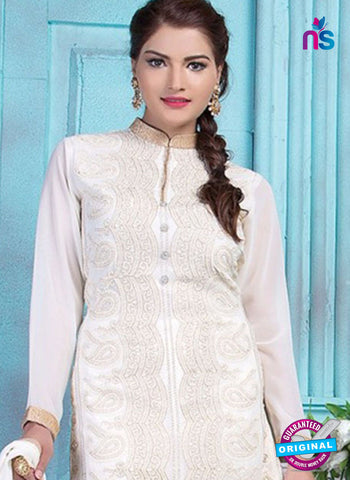 Rinky 1006 White Party Wear Suit