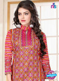 SC 13023 Multicolor and Orange Printed Cambic Pakistani Suit