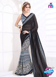 AZ 2003 Black and Grey Georgette Fancy Formal Saree