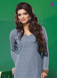 NS11503 Gray Party Wear Georgette Straight Suit Online